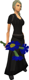 Blue flowers equipped