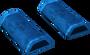 Blue wedge key detail