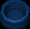 Dog bowl (blue) detail