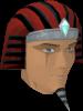Pharaoh's nemes (red) chathead