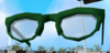 Stylish glasses (green) detail