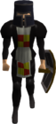 Black heraldic armour set 3 (lg) equipped old