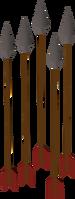 Flecha de ferro detalhe