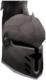 Steel heraldic helm (Skull) chathead