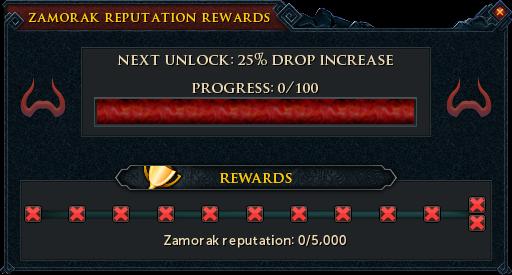 Zamorak Reputation Rewards