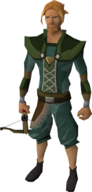 Black crossbow equipped