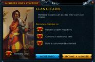 Clan Citadel popup