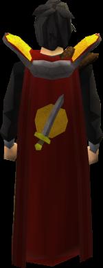 Untrimmed attack cape