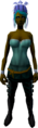 Feather headdress (blue) equipped.png