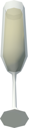 Glass of bubbly detail