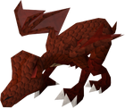 Hatchling dragon (red) pet old