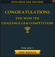 Challenge gem win interface