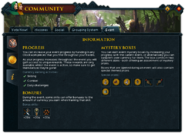 Community (Going Like Clockwork) interface 3