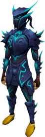 Elite sirenic armour set equipped