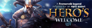 Hero's Welcome lobby banner