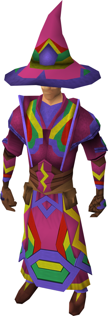 Infinity robes equipped