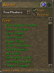 Quest lijst