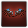 Silver bladed wings icon