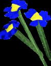 Blue flowers detail