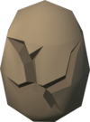 Cracked phoenix egg detail
