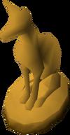 Estatueta dourada detalhe