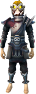 Headless Rider outfit equipped