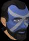 Highland war paint (green, male) chathead