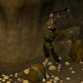 Jogador minerando