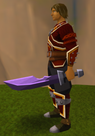 Off-hand mithril ceremonial sword II equipped