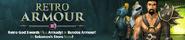 Retro armours 3 lobby banner
