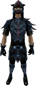 Black dragonhide armour (male) equipped