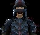 Black dragonhide armour