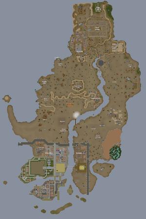 Deserto Kharidiano mapa