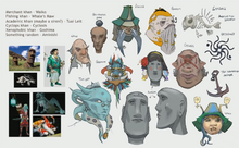 Eastern Lands - The Arc character faces concept art