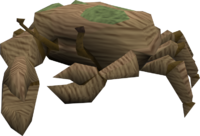 Giant crab (brown and green) pet