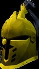 Steel heraldic helm (Varrock) detail