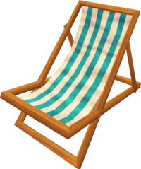 Deck chair (blue)