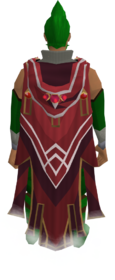 Hooded completionist cape equipped