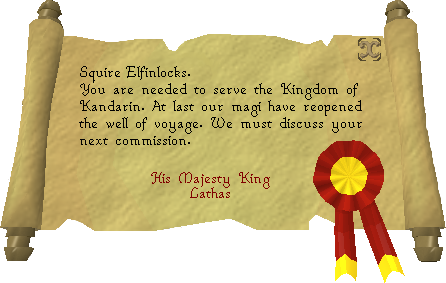 King's message read