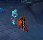 Lutando contra Metamorfo de Cristal