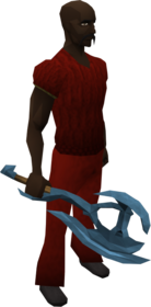 Rune battleaxe equipped