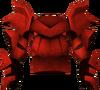 Cota de placa dragônica detalhe