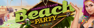 Lumbridge Crater Beach Party lobby banner