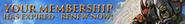 Membership expired lobby banner