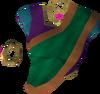 Silken top (green, female) detail