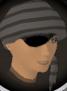 Bandana and eyepatch (grey) chathead