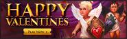 Happy Valentines lobby banner
