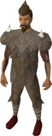 Yak hide armour equipped