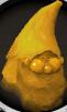 Gnomo de ouro cabeça