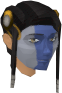Highland war paint (purple, female) chathead
